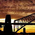"""Sydney Harbour Bridge sunset"" by SheilaSmart"