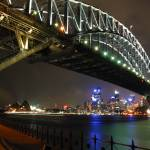 """Sydney Harbour Bridge at night"" by SheilaSmart"