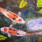 """Taisho Sanke Koi Painting"" by mazz"