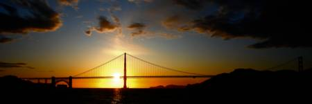 Golden Gate Sunset Panoramic