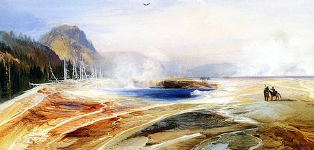 Big Springs in Yellowstone Park (1872) by Moran