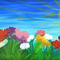 Happy garden Art Prints & Posters by Hagit Dayan