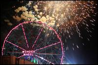 Wonder Wheel with Fireworks