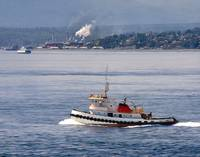 Tugboat and Port Townsend