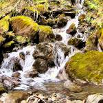 """""""Waterfall on the Mount Dickerman Trail"""" by markwhitesell"""