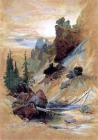 Devils Den on Cascade Creek (1872) by Thomas Moran
