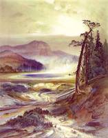 Excelsior Geyser, Yellowstone Park (1873) by Moran