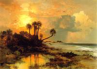 Fort George Island (1880) by Thomas Moran