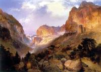 Golden Gateway to the Yellowstone (1893) by Moran