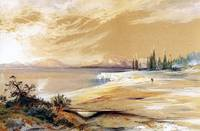 Hot Springs on Shore of Yellowstone Lake (1873)
