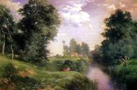 Long Island River (1908) by Thomas Moran from the