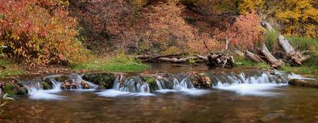 Autumn Stream Panorama