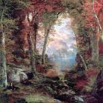 """The Autumnal Woods (1865) by Thomas Moran"" by ArtLoversOnline"