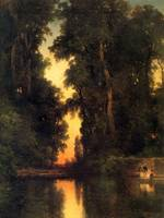 The Borda Gardens, Mexico (1913) by Thomas Moran