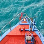 """Red Boat, Blue Water Graphic, Bali,Indonesia"" by mjphoto-graphics"