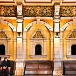 """Yellow  Gold Train Station, Dunedin, New Zealand"" by mjphoto-graphics"