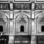 """Train Station-Black and White,Dunedin, New Zealand"" by mjphoto-graphics"