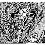 """Maze Kong - Ink On Paper Y Frimer 2006"" by mazes"