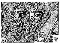 Maze Kong - Ink On Paper Y Frimer 2006