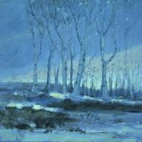 """Blue Birch Stand"" by Joan Barber"