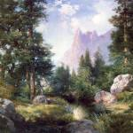 """The Sentinel Yosemite Valley (1908) by Moran"" by ArtLoversOnline"