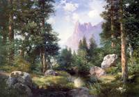 The Sentinel Yosemite Valley (1908) by Moran