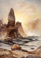 The Towers of Tower Falls by Thomas Moran