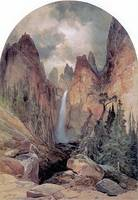 Tower Falls (1872) by Thomas Moran