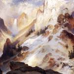 """Yellowstone Canyon (1920) by Thomas Moran"" by ArtLoversOnline"