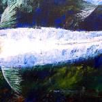 """Tancho Kohaku Koi Oil Painting"" by mazz"