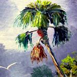 """Palm Tree and Bird"" by mazz"
