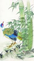 Bird In Bamboo