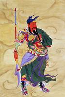 Chinese God with Weapon