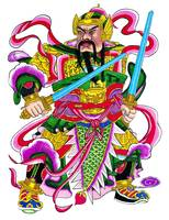 Chinese God with Swords