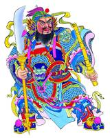 Chinese God with Weapons