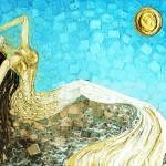 """White Gold Mermaid"" by modernhouseart"