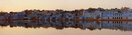 India Pushkar sunset Panorama