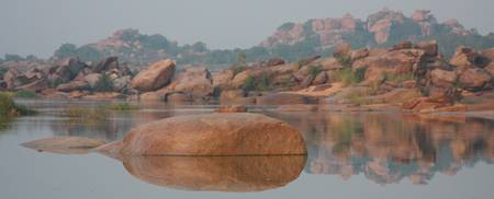 India hampi Rocky Landscape panoramic