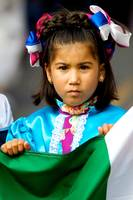 Girl Holding Mexican Flag