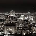"""Montreal Skyline taken from Mount Royal mountain"" by PTaverna"