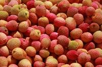 Fruits Market Lychee stand