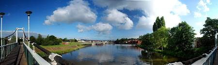 Trews Weir Bridge pano