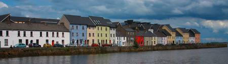 Ireland Galway houses panorama