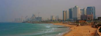 Tel aviv beach from south Panorama