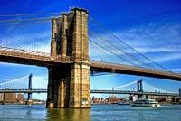 Brooklyn Bridge & Manhattan Bridge of NYC