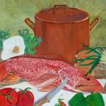 """Redfish and Copper Pot"" by lmeaux2"