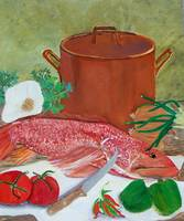Redfish and Copper Pot