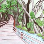 """a walk through the forest"" by artista"