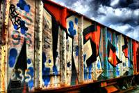 Graffiti Train Car