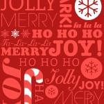 """falala holiday card typeography red on dark red fl"" by dancacioppo"